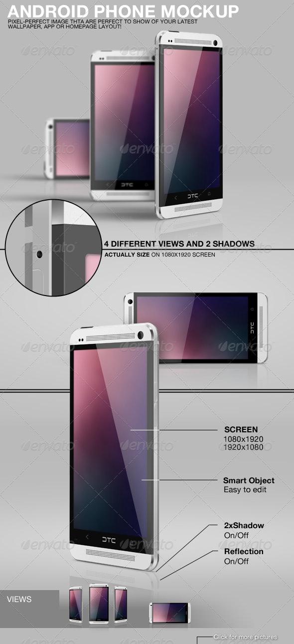 Android Phone Mockup - Mobile Displays
