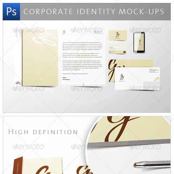 Corporate Identity Mock-ups