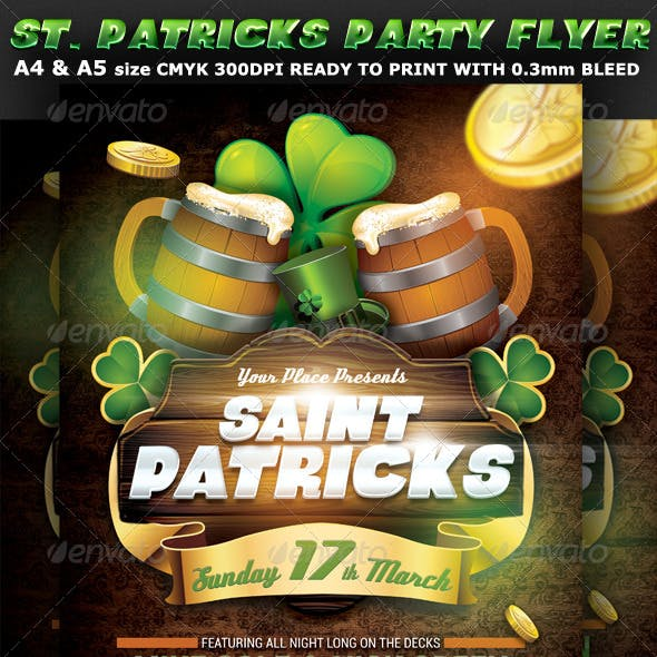 Saint Patricks Party Flyer Template