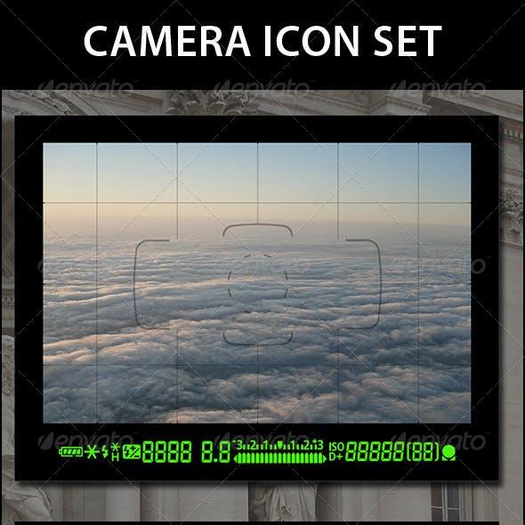 Digital Camera Icon Set