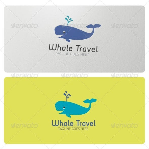 Whale Travel Logo Template