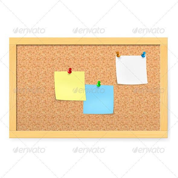 Corkboard with Pushpins