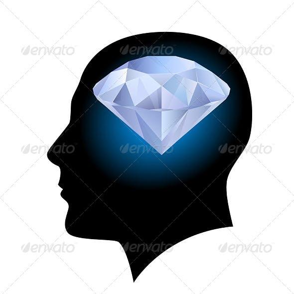 Man's Head and Diamond