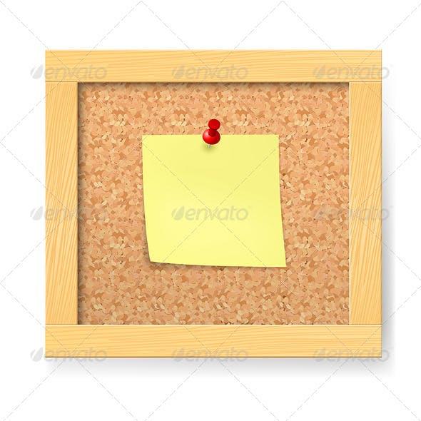 Empty Wooden Corkboard
