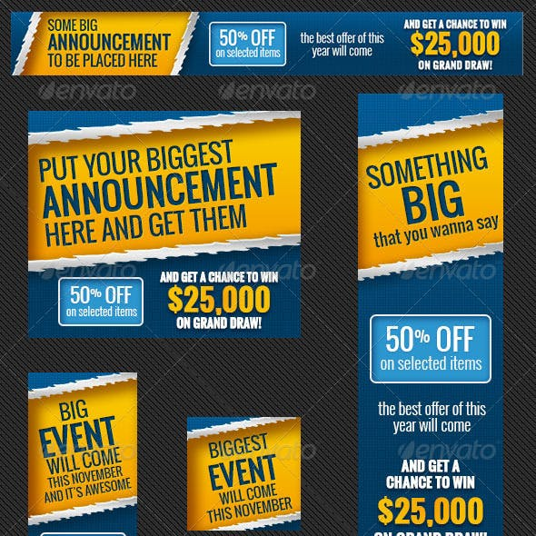 Big Event Banner Ads PSD Template