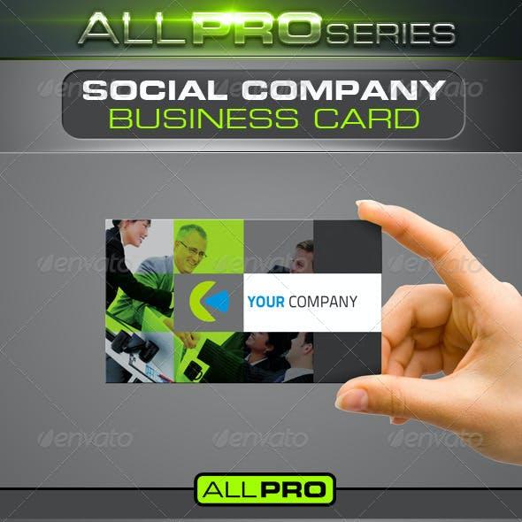 Social Company Business Card