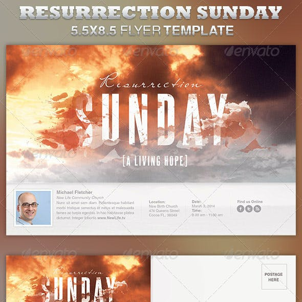 Resurrection Sunday Church Flyer Template