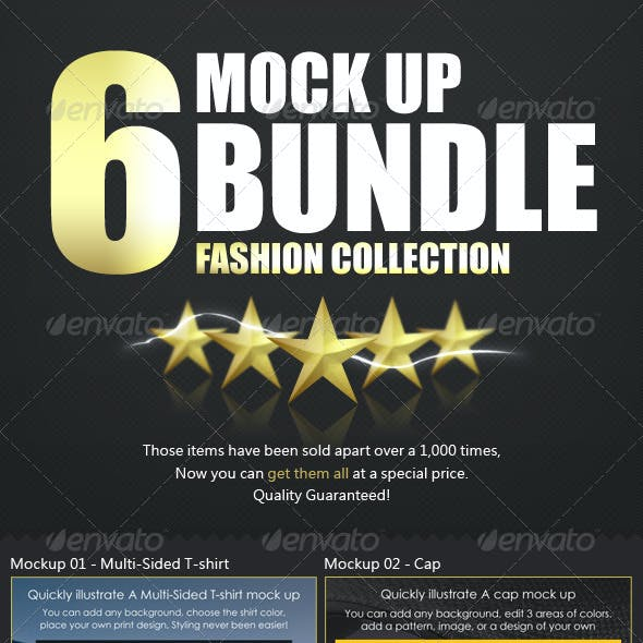 Top x6 Mockup Bundle - Fashion Collection