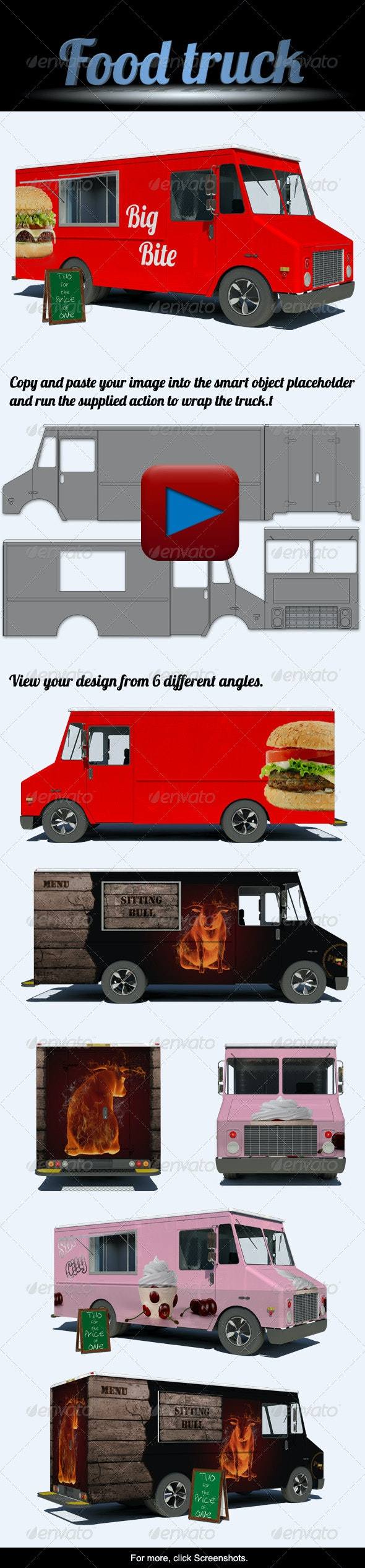 Food Truck Mock-Up - Miscellaneous Product Mock-Ups