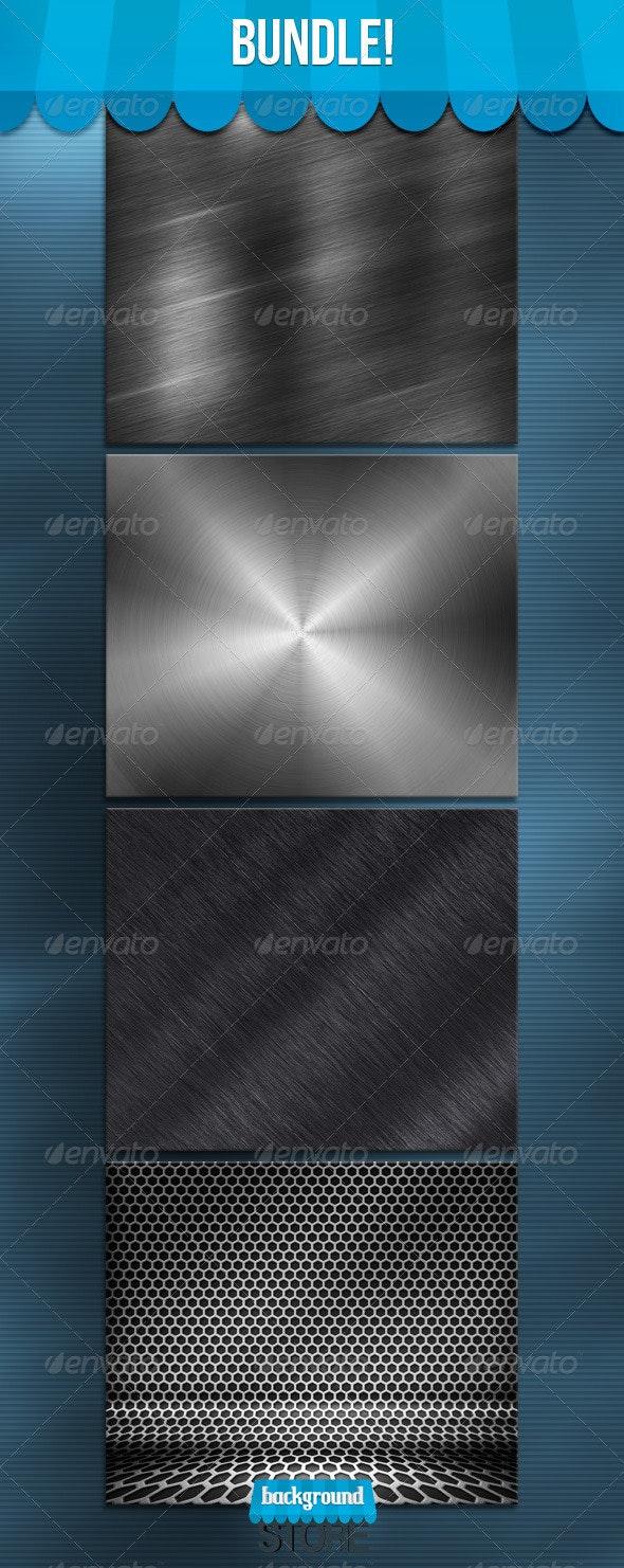 Metal Textures Bundle - Tech / Futuristic Backgrounds
