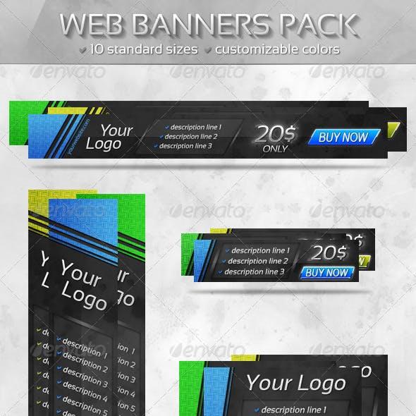Slant Web Banners Pack