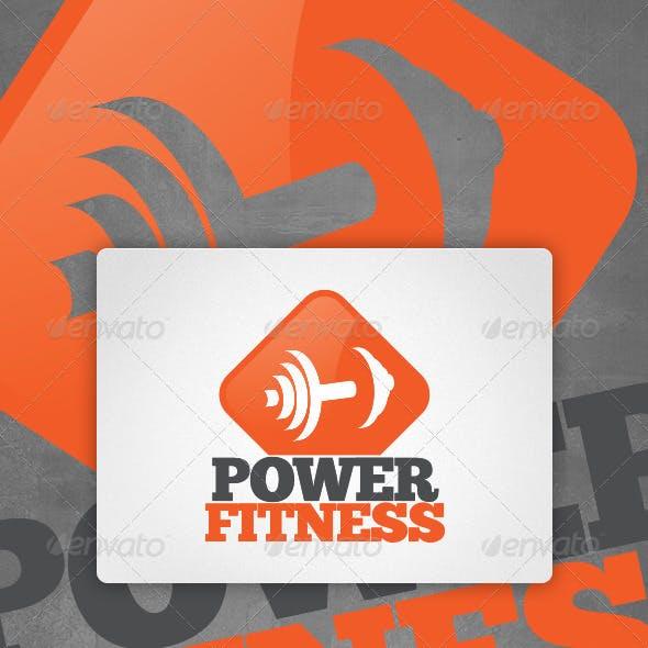Power Fitness Gym Logo Template