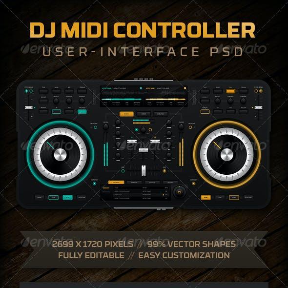 DJ Midi Controller UI