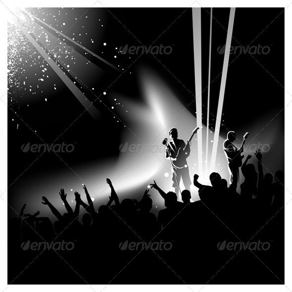 Vector Concert Crowd - People Characters