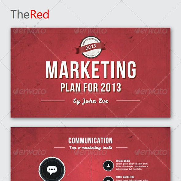 TheRed Keynote Template