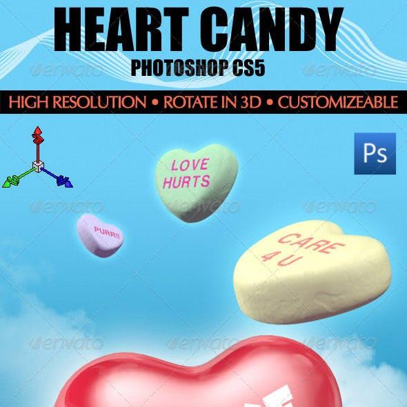 3D Heart Candy