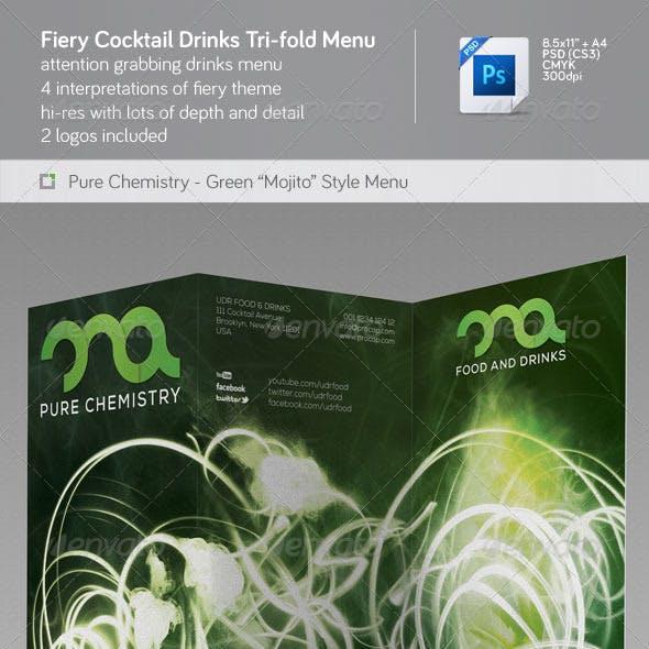 Fiery Cocktail Drinks Menu