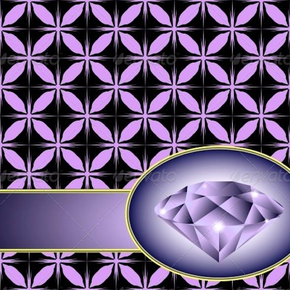 Seamless Background with Purple Diamond