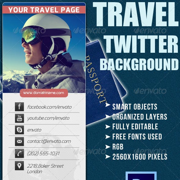 Twitter Background for Travel Company