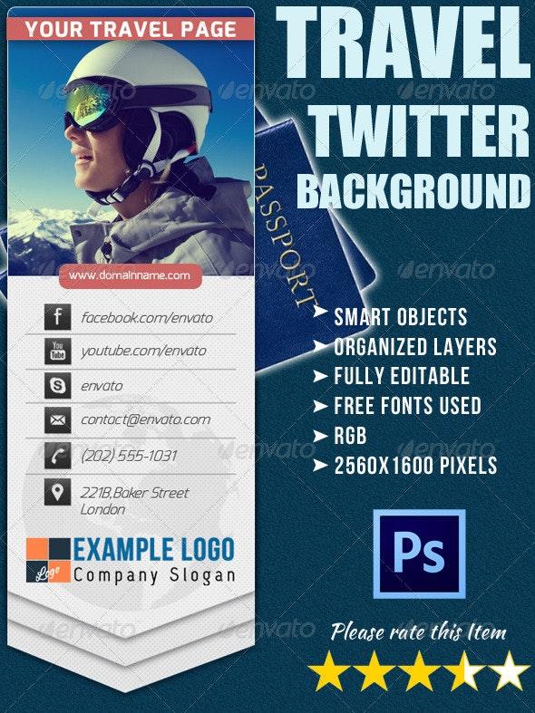 Twitter Background for Travel Company - Twitter Social Media