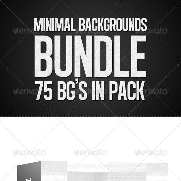 75 Minimal Light Backgrounds Bundle