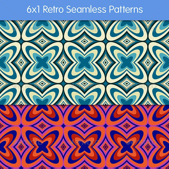 6 Retro Seamless Patterns