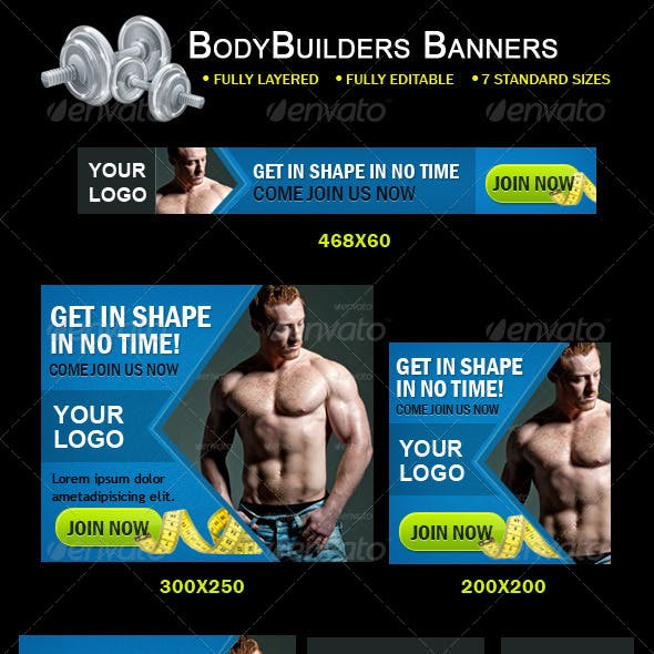 Body Builders Banners