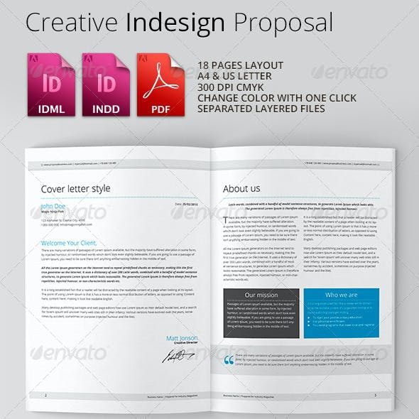 Clean & Creative Indesign Proposal