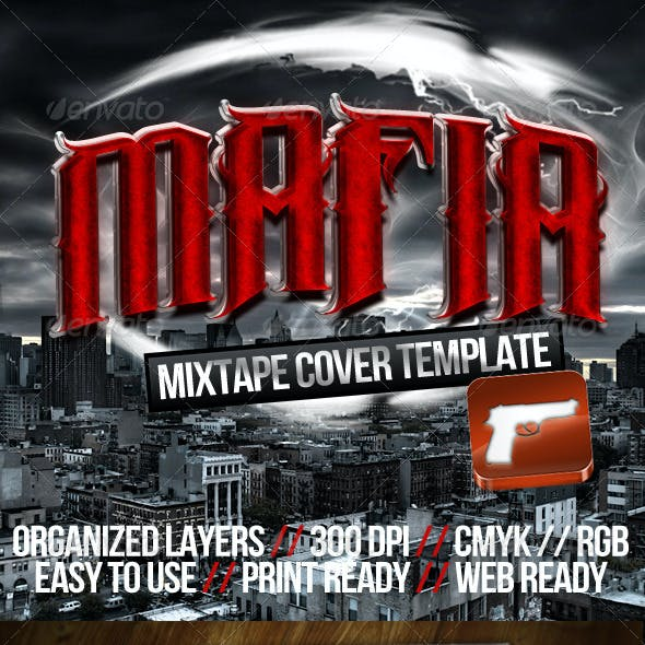 The Mafia Music CD Cover Template