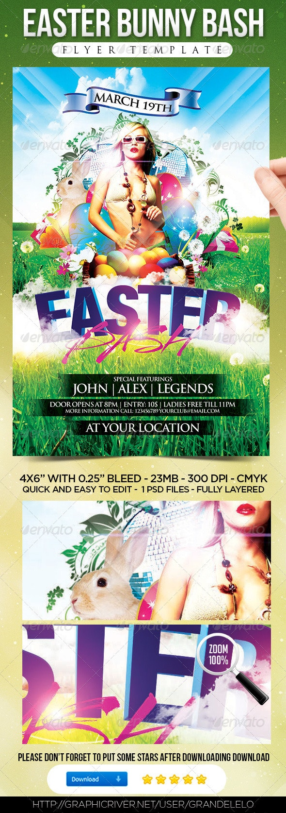 Easter Bash Flyer Template - Holidays Events