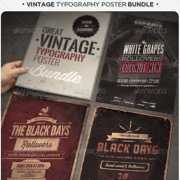 Vintage Typography Poster Bundle