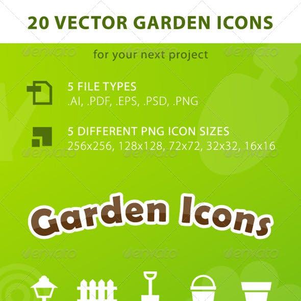 20 Vector Garden Icons