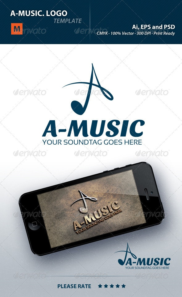 A-Music Logo - Letters Logo Templates