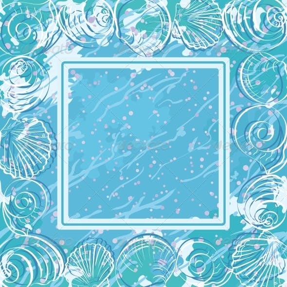 Contour Marine Seashells and Frame