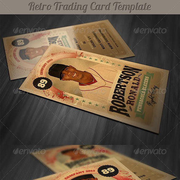 Retro Trading Card Template