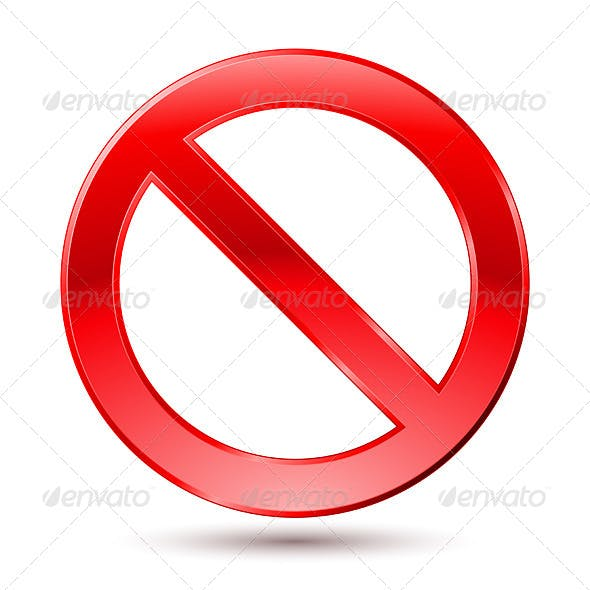 Empty Ban Sign