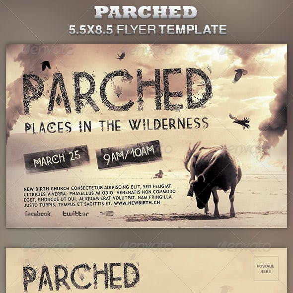 Parched Church Flyer Template