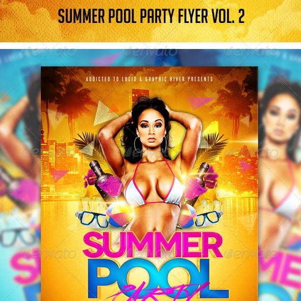 Summer Pool Party Flyer Vol. 2