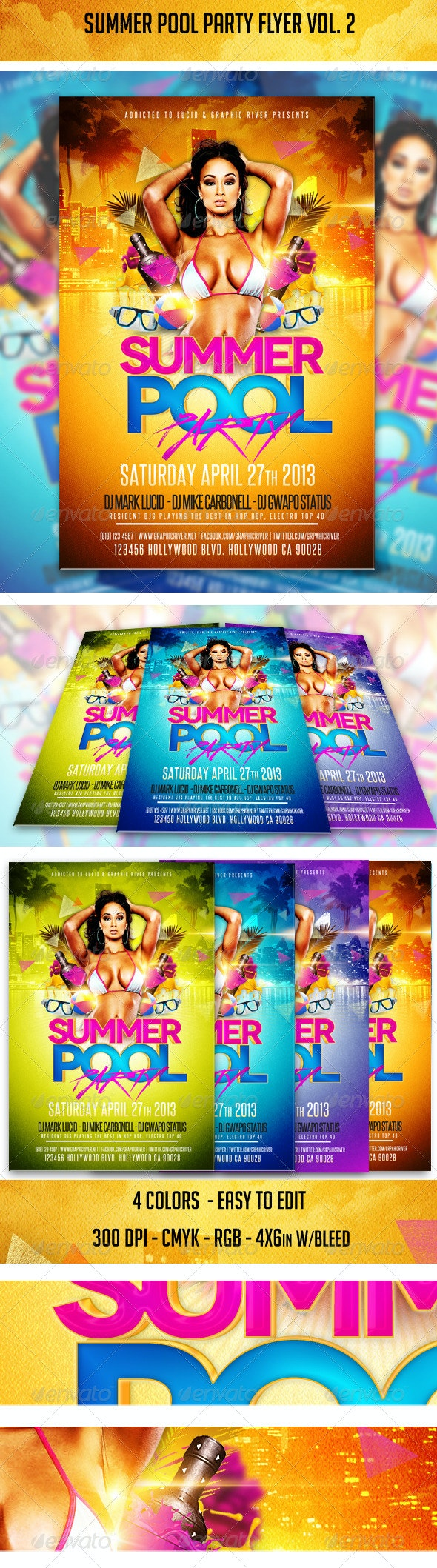 Summer Pool Party Flyer Vol. 2 - Clubs & Parties Events