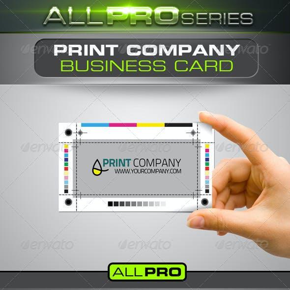 Print Company Business Card