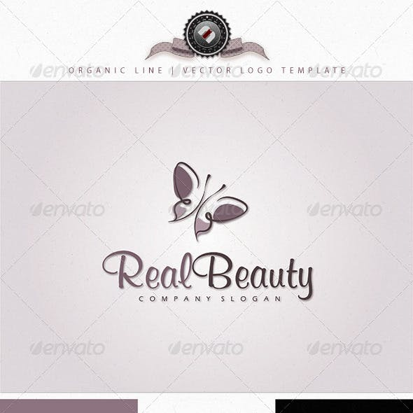 Organic Butterfly Logo Template