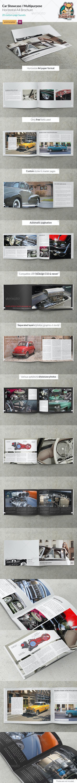 Car / Product Showcase Horizontal A4 Brochure - Portfolio Brochures