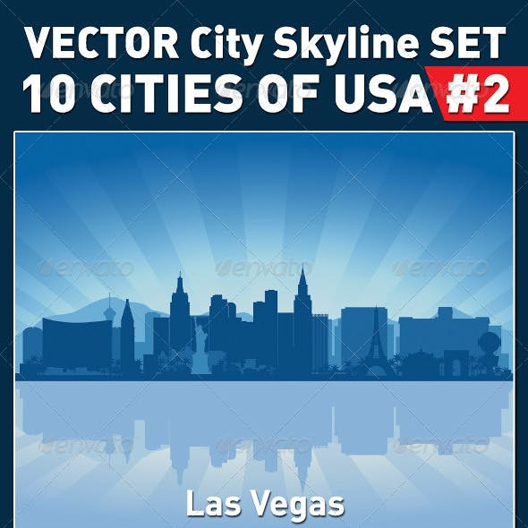 Vector City Skyline Set. USA #2