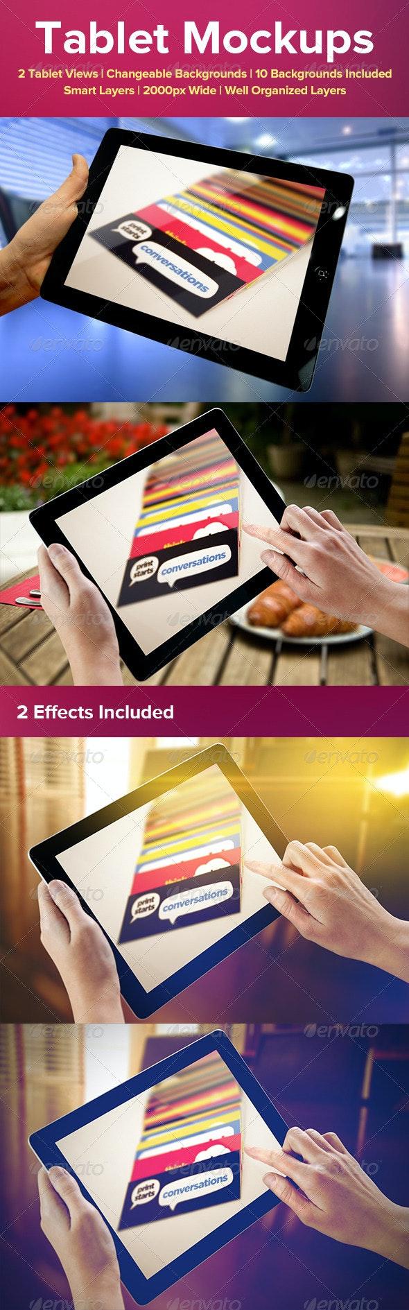 Tablet Mockups - Mobile Displays