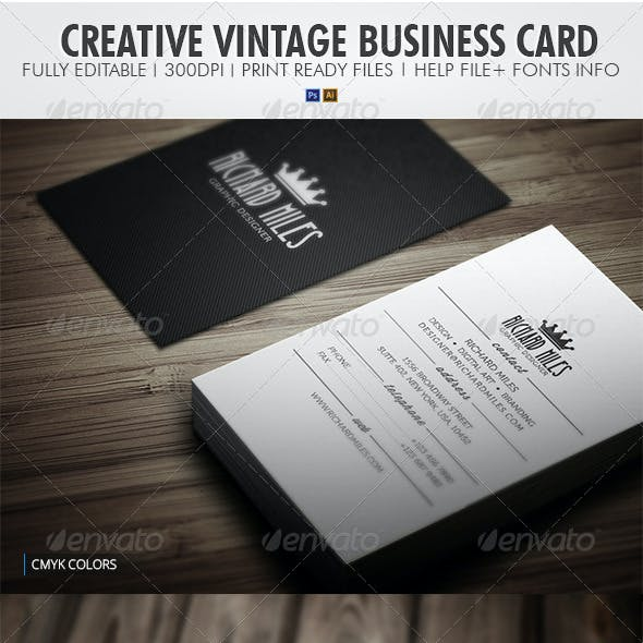 Creative Vintage Business Card