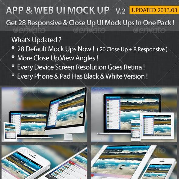 Apps / Website UI Representation Mock Up