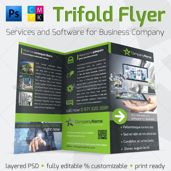 Solution and Software Trifold Flyer