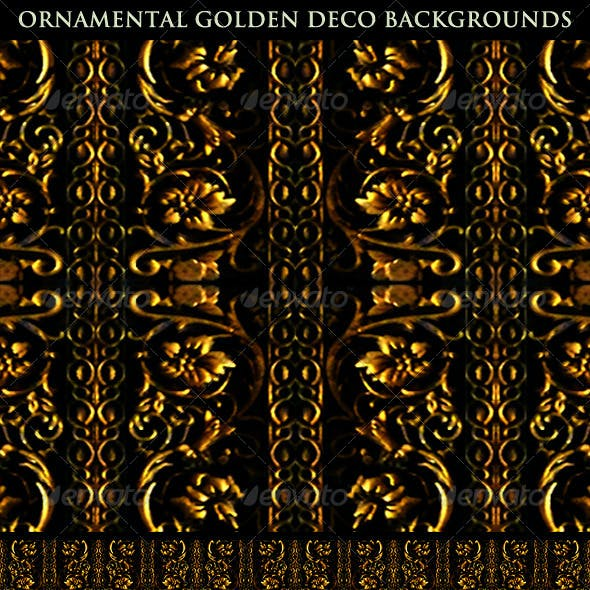 Ornamental Golden Deco Backgrounds