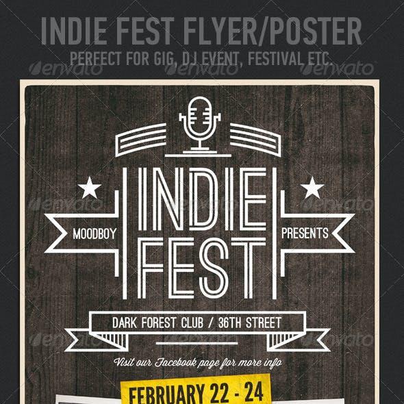 Indie Fest V.03 Flyer / Poster