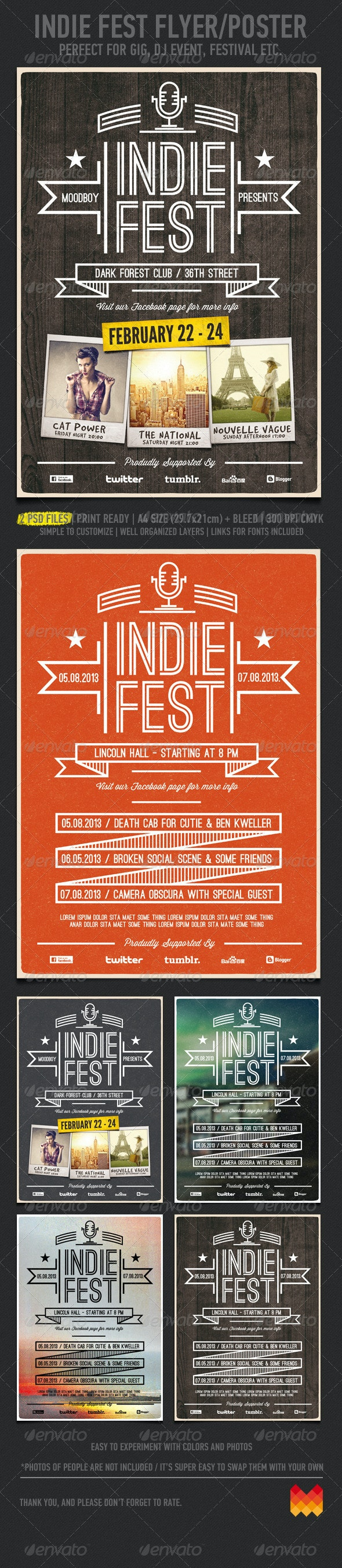 Indie Fest V.03 Flyer / Poster - Clubs & Parties Events